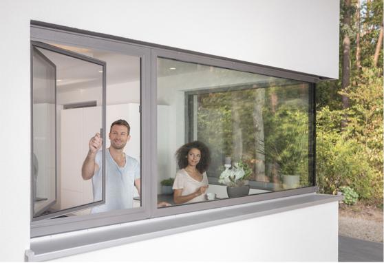 Fliegengitter-Fenster
